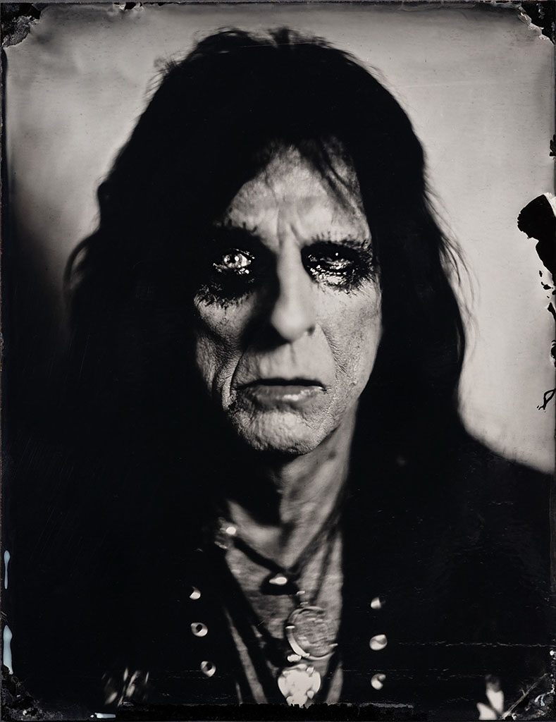 Portrait of musician Alice Cooper shot by Stefan Sappert at the Hollywood Vampires Concert in Austria 2018