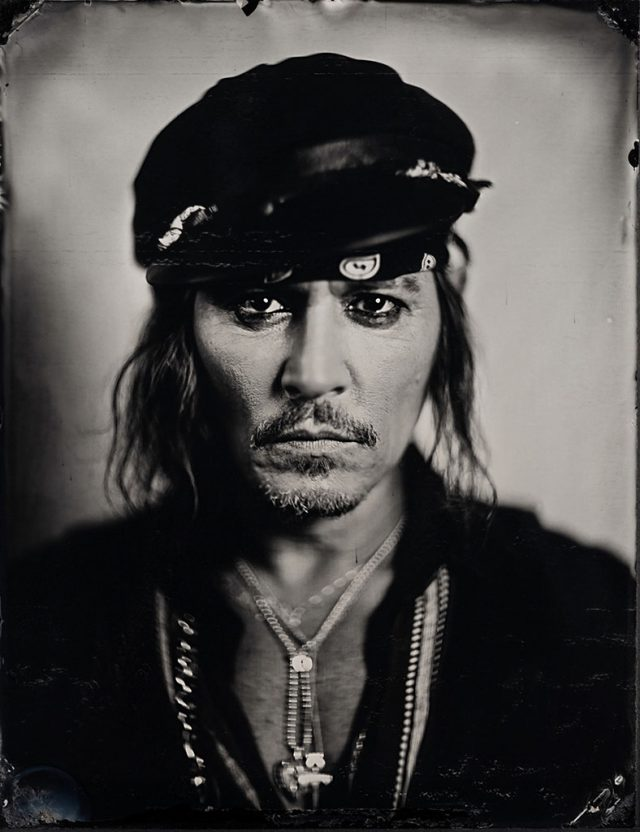 Portrait of Actor and Musician Johnny Depp shot by Stefan Sappert